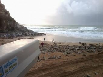 La cam de la Playa de La Ñora, de nuevo online