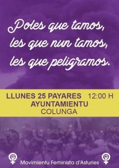 Concentración 25N en la Plaza del Ayuntamiento de Colunga