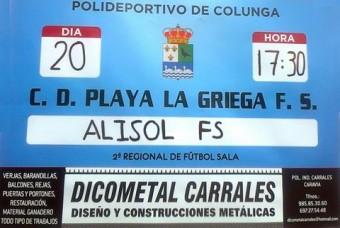 Fútbol Sala en Colunga: C.D. Playa La Griega F.S. vs ALISOL F.S.