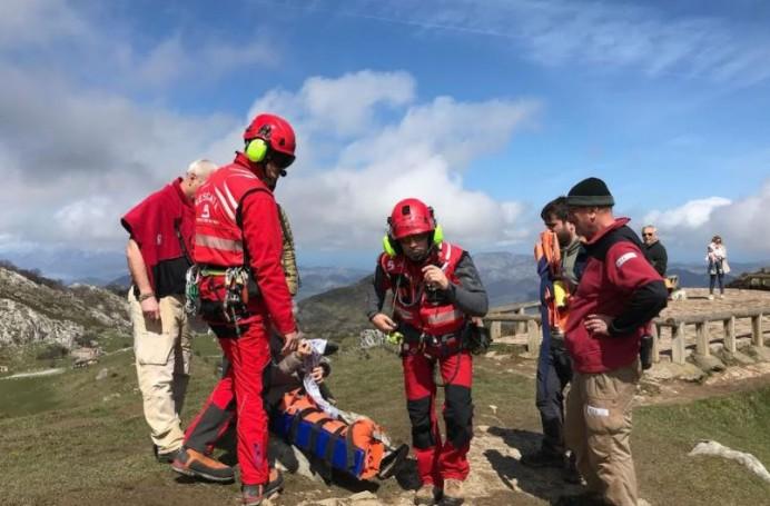 Rescate de montaña en Cangas de Onís