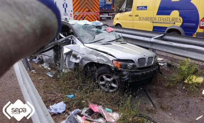 Accidente con heridos en Llanes