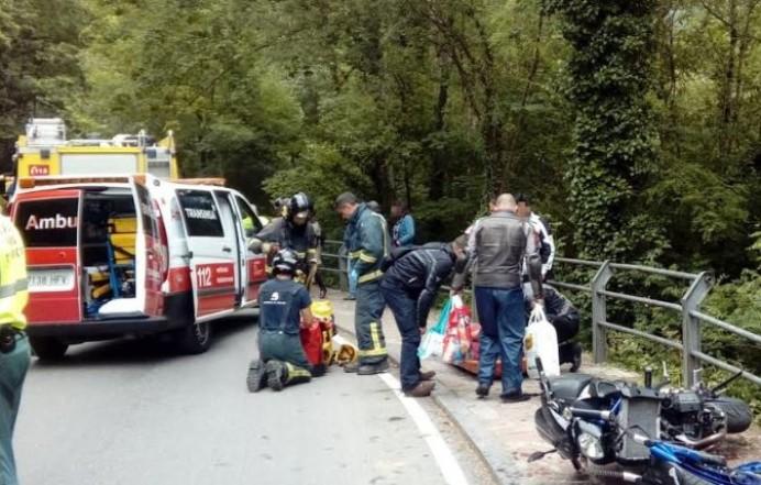 Accidente de tráfico en Covadonga