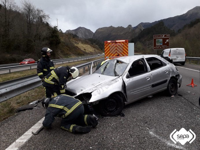 Accidente de tráfico en Ribadesella