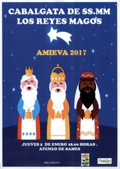 AMIEVA: Cabalgata de SS.MM. Los Reyes Magos 2017 en Amieva