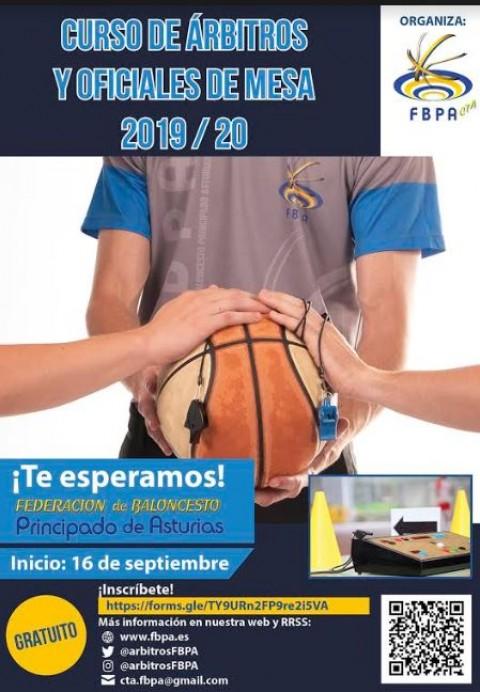Federación de Baloncesto del Principado de Asturias: Curso de árbitros y oficiales de mesa