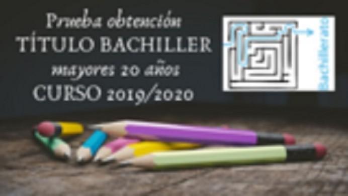 Prueba obtención título de Bachiller curso 2019/2020