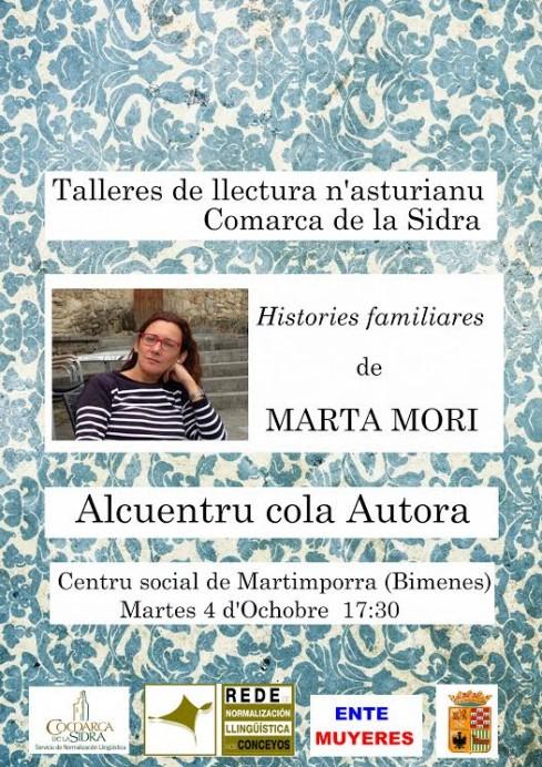 La escritora Mata Moni en Bimenes