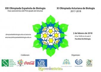 Acto académico de  entrega de premios XI Olimpiada Asturiana de Biología (2018)  (Martes 20 de febrero 16h.)