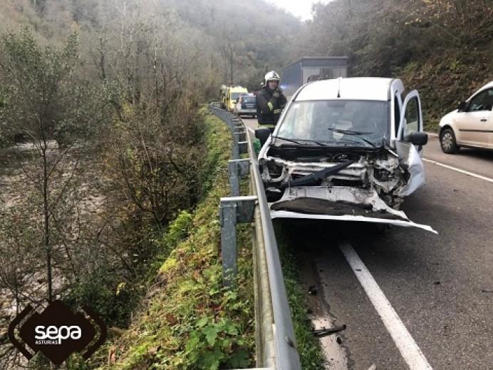 Accidente de tráfico en Belmonte Miranda