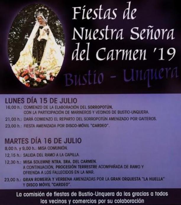 Fiestas de El Carmen en Bustio - Ribadedeva