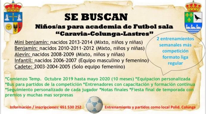 Nace Cacolas, asociación de Fútbol Sala Caravia-Colunga-Lastres