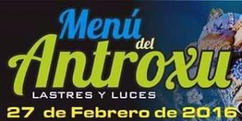 Menú del Antroxu de Lastres y Luces 2016