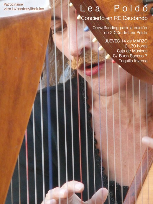 Conciertos de Lea Poldo, cantautora de música folk al harpa