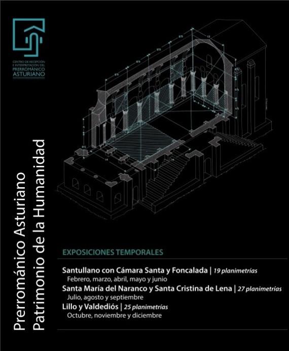 El Centro del Prerrománico abre al público una exposición con planimetrías de Lorenzo Arias de Monumentos del Prerrománico Asturiano