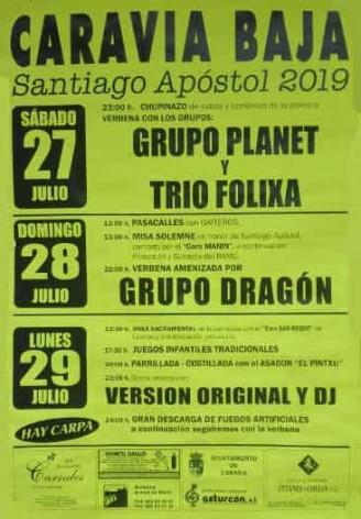 Fiestas Santiago Apóstol en Caravia Baja