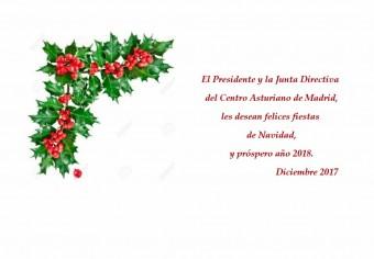 Felicitación Centro Asturiano de Madrid