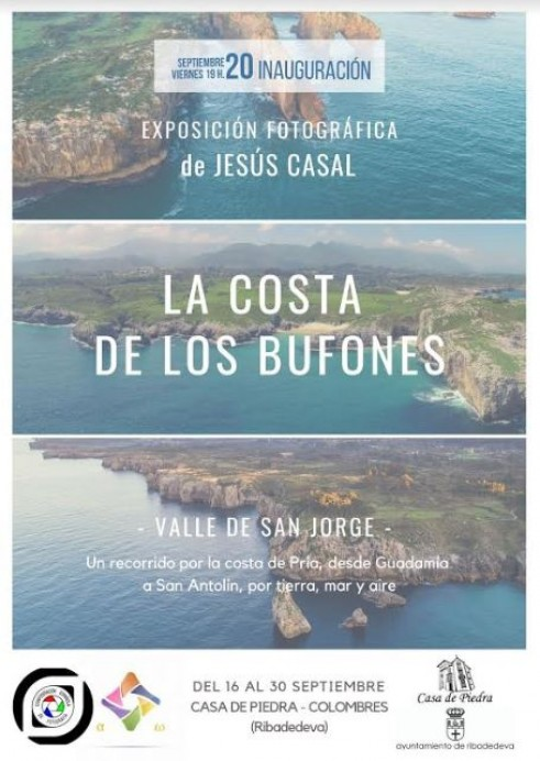 La costa de los bufones. Exposición fotográfica de Jesús Casal.
