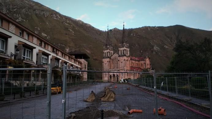 Obras en el entorno del Real Sitio de Covadonga