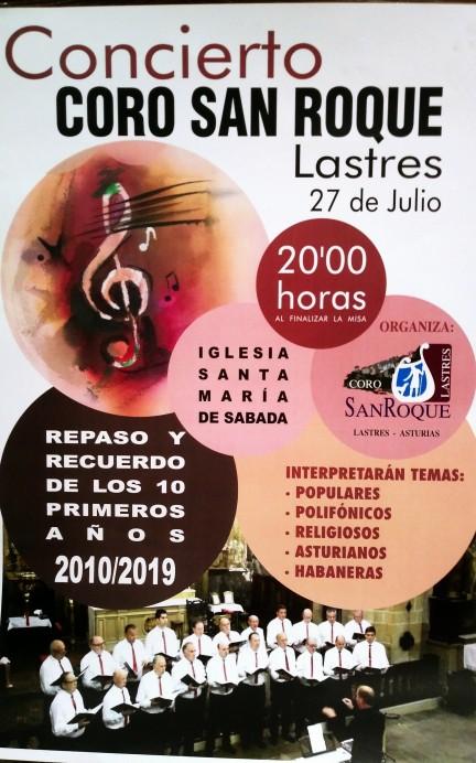 Concierto 10 años Coro San Roque de Lastres
