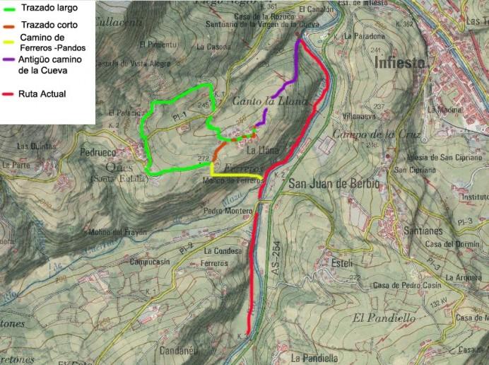 Podemos Piloña y la mejora de la ruta de la Cueva