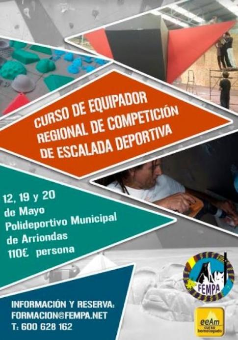 Curso de Equipador Regional de Competición de Escalada Deportiva