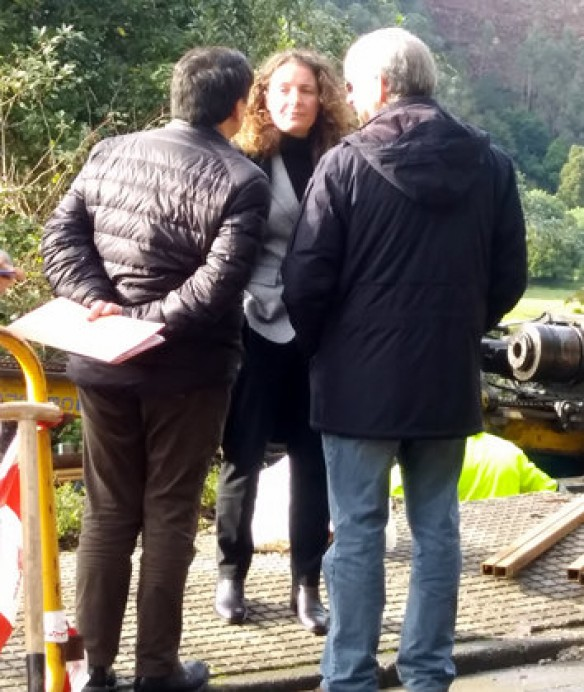 El Principado se vuelca en la búsqueda de soluciones para el argayu de la carretera Colunga a Lastres