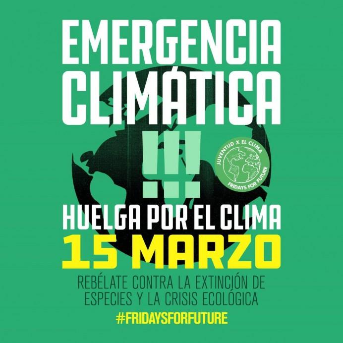 Huelga por el clima el próximo 15 de marzo