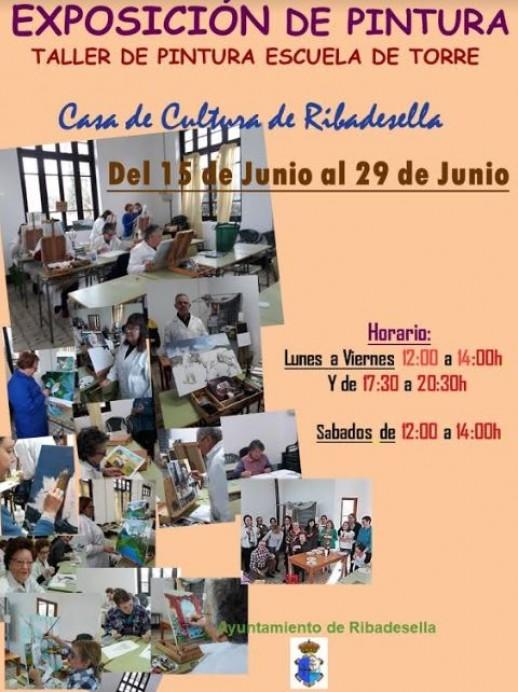 Exposición del taller de pintura Escuela de Torre