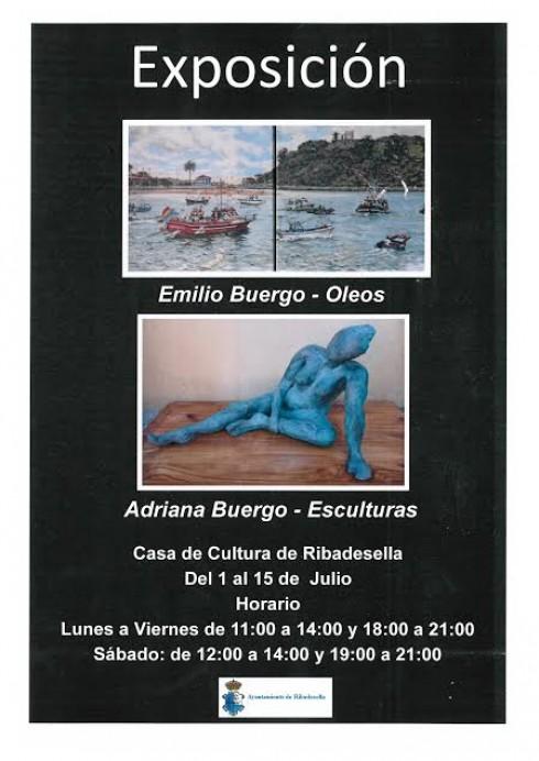 Exposición de pintura y escultura en Ribadesella