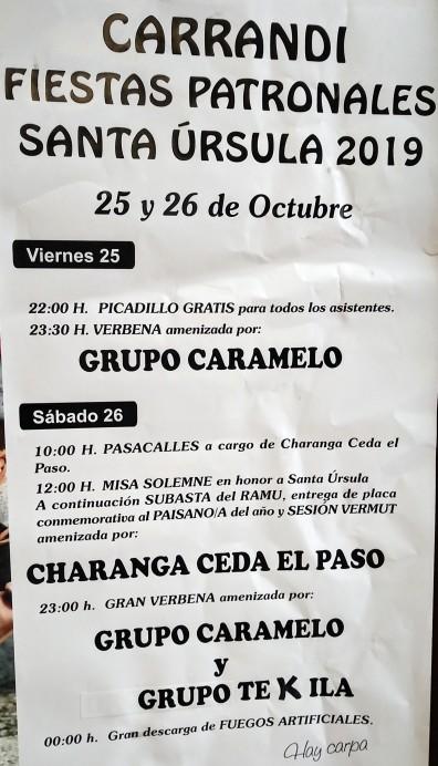 Fiestas en Carrandi 2019