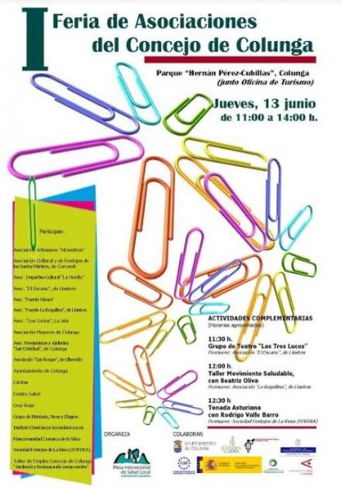 I Feria de asociaciones organizada por la mesa de salud local
