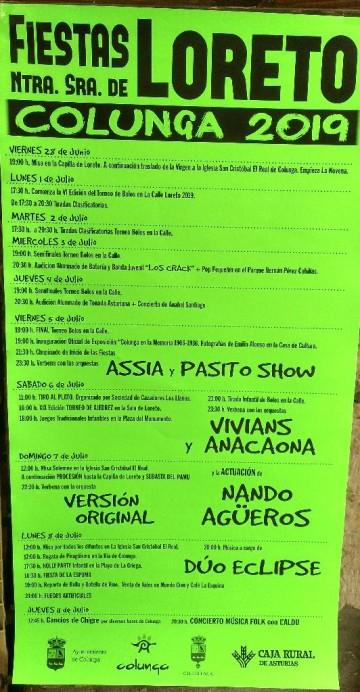 Fiestas de Loreto 2019 en Colunga