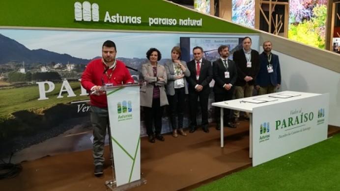 Asturias Paraíso Natural Film Commission y la Comarca de la Sidra impulsan en Fitur Rueda en Asturias