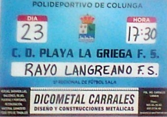 C.D. Playa La Griega F.S. - Rayo Langreano F.S.