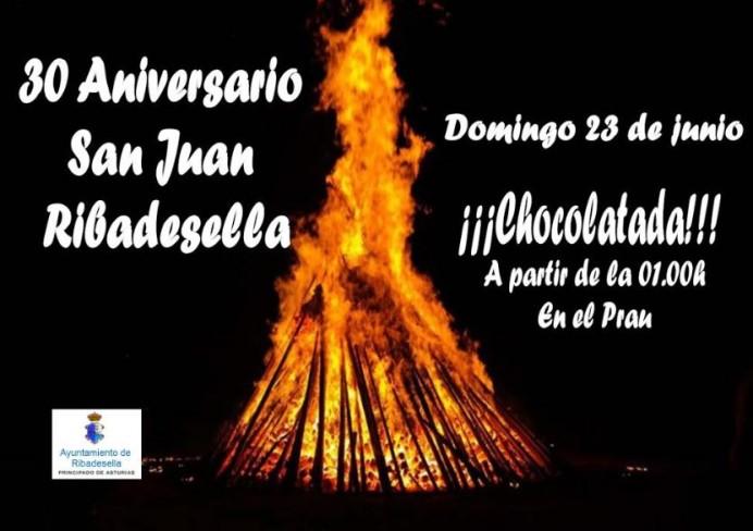 Hoguera de San Juan en Ribadesella