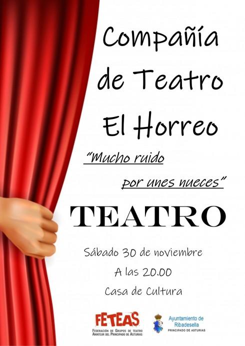 Teatro El Horreo, presenta la obra Mucho ruido por unes nueces