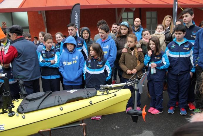 Presentación del Kayak a motor para pesca y otros fabricados por Asturkayak en Arriondas