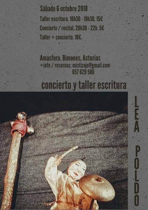 Concierto y taller de escritura con Lea Poldo