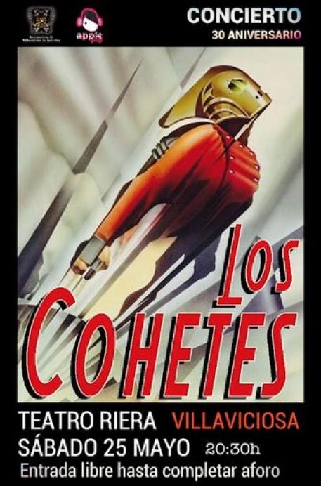 Concierto 30 aniversario de Los Cohetes este sábado en el Teatro Riera
