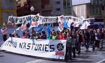 Entruga pol aumentu d'antidisturbios n'Asturies
