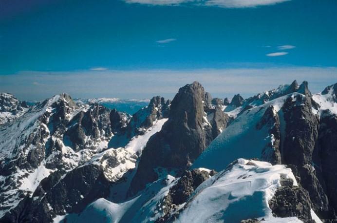 Presentación de mapa desplegable de los Picos de Europa