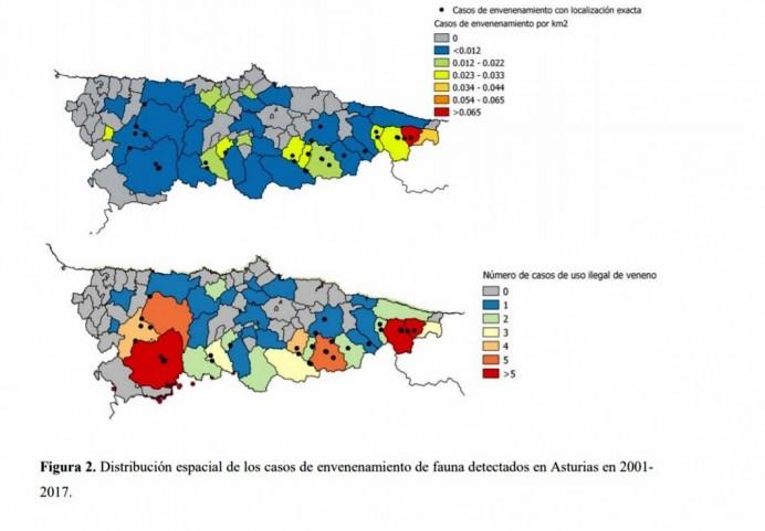 El grave problema del veneno en la naturaleza asturiana en el Oriente y en el Occidente