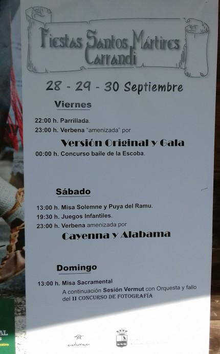 Fiestas de los Santos Mártires de Carrandi