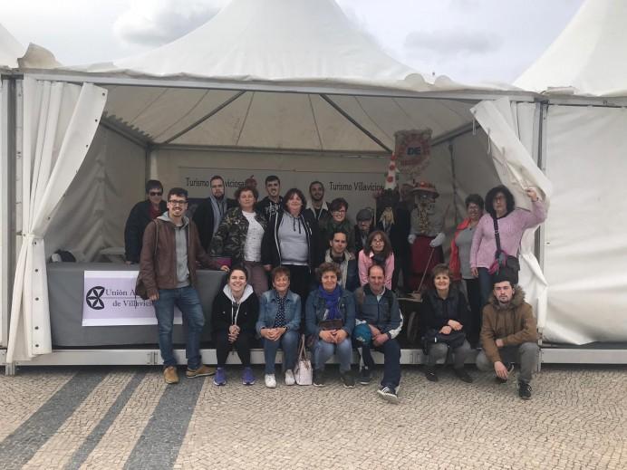 Villaviciosa se promociona en Portugal, con motivo del festival de la mascara ibérica de Portugal