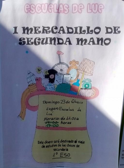I Mercadillo solidario de segunda mano en Escuelas de Lué