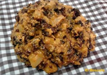 Revuelto de morcilla y manzana #recetas #manzana