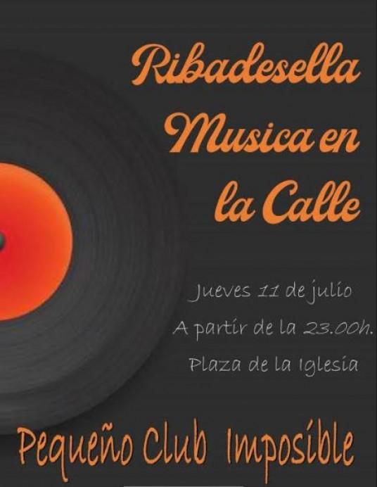 Música en la calle en Ribadesella