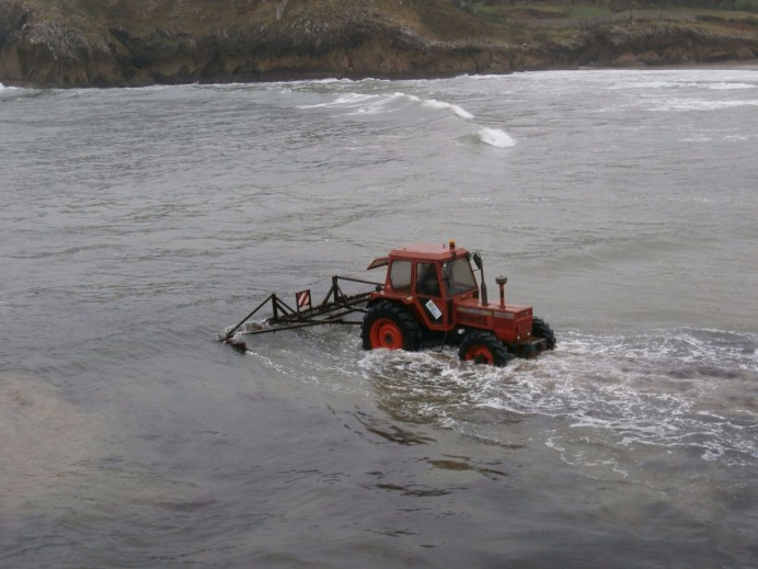 El Principado legaliza la rastrilla para la recogida de algas en la costa asturiana