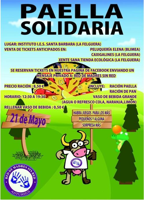Red de Madres sin Red: Paella solidaria