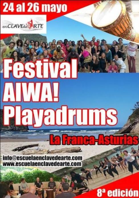 Festival multidisciplinar Aiwa Playadrums en La Franca